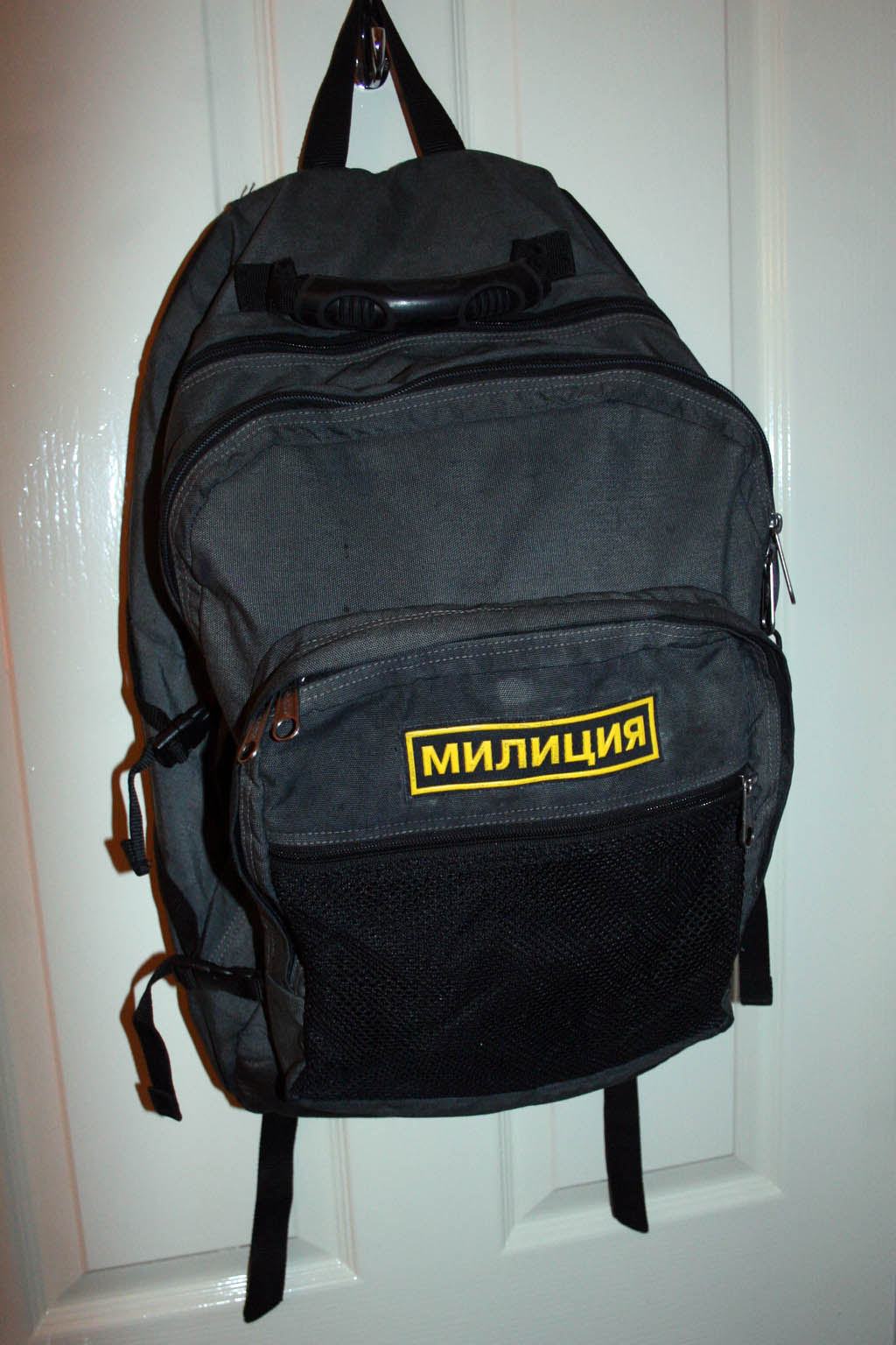 eastpak bag black russian patch